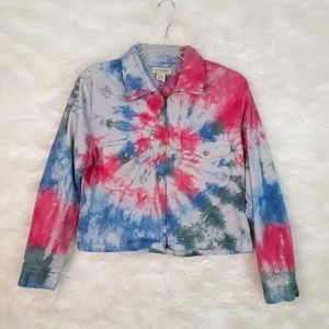 Limited chinos Tie Dye Cotton jacket sz Large